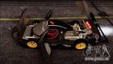 Pagani Zonda R SPS v3.0 Final pour GTA San Andreas vue de dessous