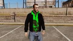 Schwarze Jacke mit grünem Olympic