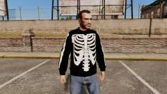 Schwarzer Pullover-Skelett