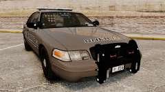 Ford Crown Victoria 2008 Sheriff Patrol [ELS] pour GTA 4