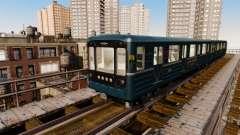 Der Leiter der U-Bahn Wagen 81-717-Modell