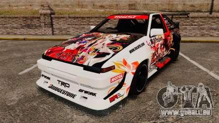 Toyota Corolla GT-S AE86 [EPM] Reimu Hakurei pour GTA 4
