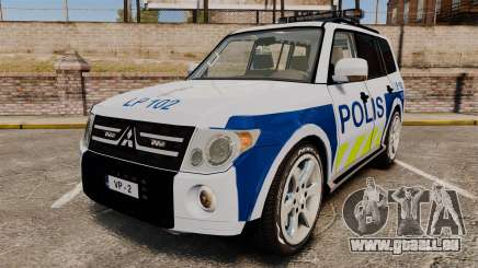Mitsubishi Pajero Finnish Police [ELS] für GTA 4