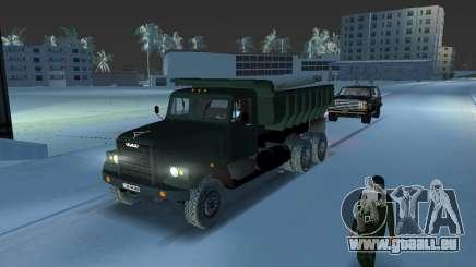 Camion à benne basculante KrAZ 255 pour GTA Vice City