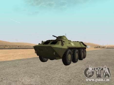 BTR-70 pour GTA San Andreas vue de droite