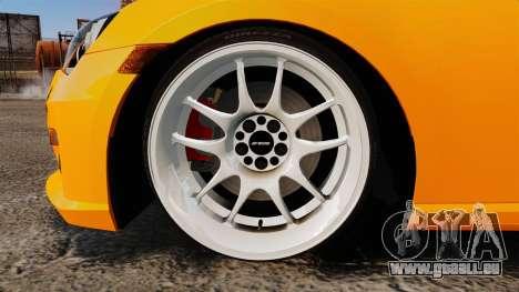 Subaru BRZ 2013 für GTA 4 Rückansicht