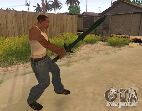 Verre Épée de Skyrim pour GTA San Andreas troisième écran