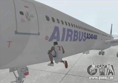 Airbus A340-600 für GTA San Andreas Innenansicht
