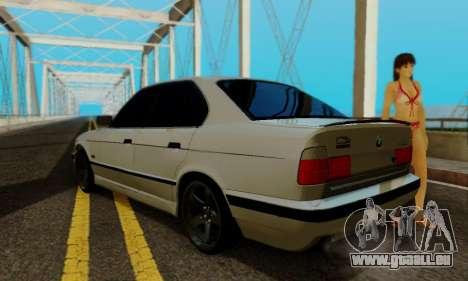 BMW 525 Re-Styling für GTA San Andreas Rückansicht