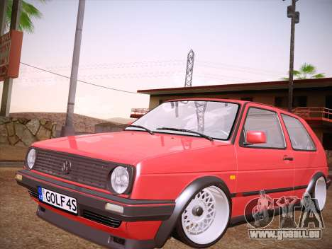 Volkswagen Golf Mk2 pour GTA San Andreas salon