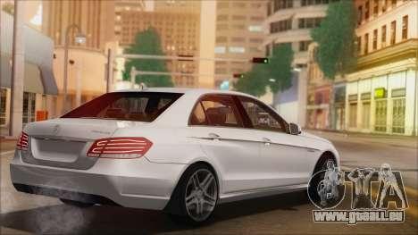 Mercedes-Benz E63 AMG 2014 für GTA San Andreas Unteransicht