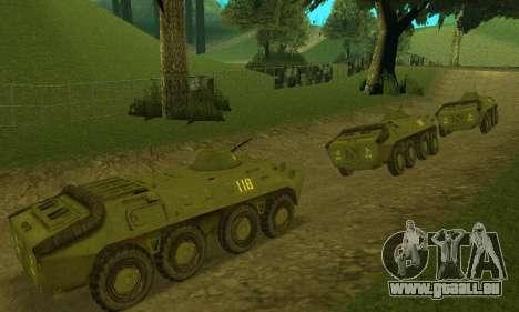 BTR-70 pour GTA San Andreas laissé vue