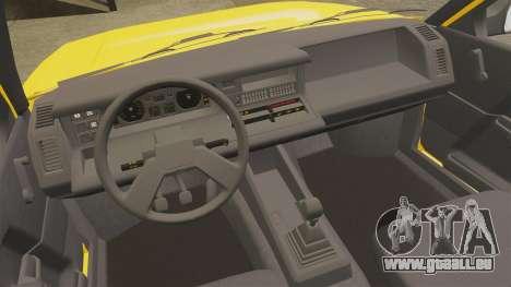 Renault 21 Nevada GTD pour GTA 4 est une vue de l'intérieur