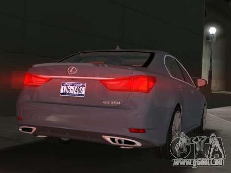 Lexus GS350 F Sport 2013 pour une vue GTA Vice City de la droite