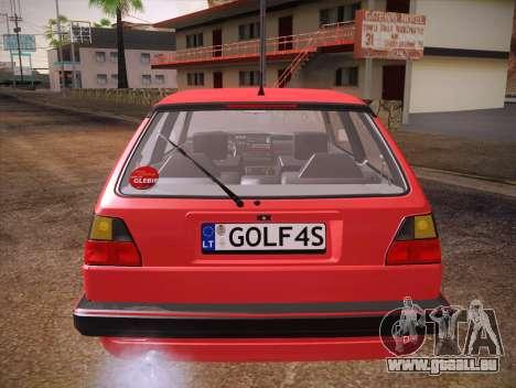 Volkswagen Golf Mk2 für GTA San Andreas Unteransicht