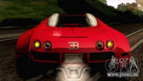 Bugatti Veyron 16.4 für GTA San Andreas Innenansicht
