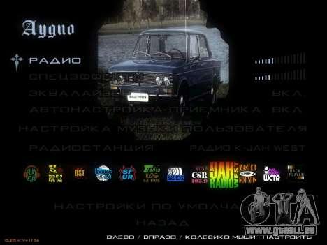 Menü sowjetischen Autos für GTA San Andreas achten Screenshot