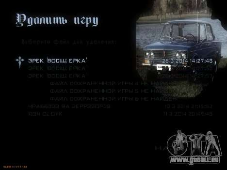 Menü sowjetischen Autos für GTA San Andreas sechsten Screenshot