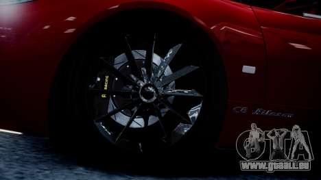 Spyker C8 Aileron Spyder v2.0 pour GTA 4 est une vue de l'intérieur