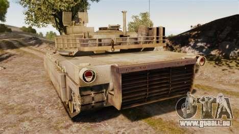 M1A2 Abrams für GTA 4 hinten links Ansicht