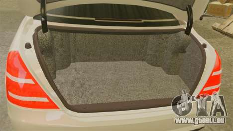 Mercedes-Benz S65 (W221) für GTA 4 Innenansicht