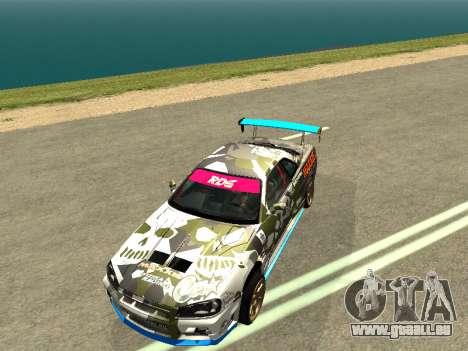 Nissan Skyline Drift pour GTA San Andreas vue de droite
