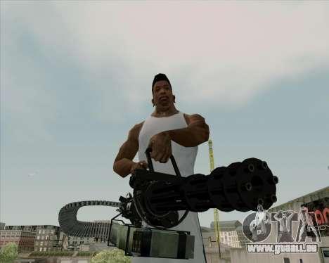 Renegades Minigun Black pour GTA San Andreas
