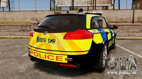 Vauxhall Insignia Sports Tourer Police [ELS] pour GTA 4 Vue arrière de la gauche