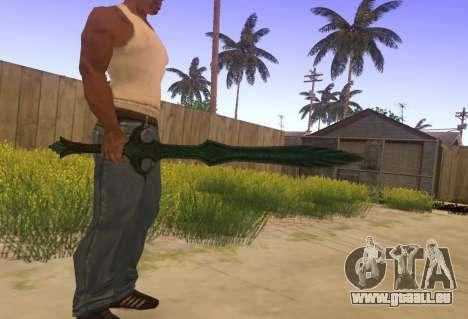 Verre Épée de Skyrim pour GTA San Andreas deuxième écran