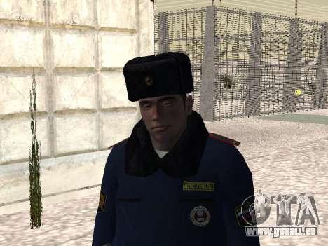 Pak policiers en uniformes d'hiver pour GTA San Andreas troisième écran