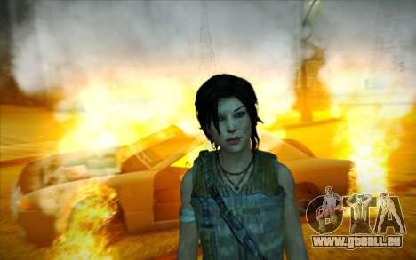 Tomb Raider Lara Croft Guerilla Outfit pour GTA San Andreas quatrième écran