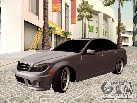 Mercedes-Benz C63 pour GTA San Andreas vue arrière