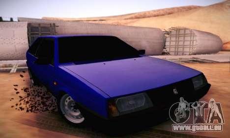 VAZ 2108 für GTA San Andreas Innenansicht