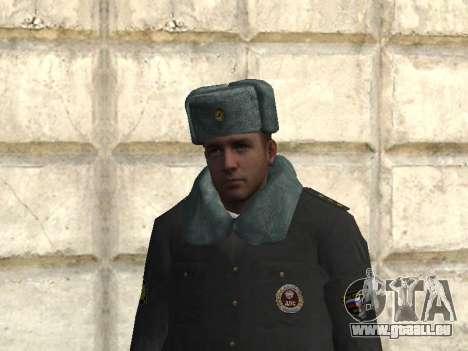Pak policiers en uniformes d'hiver pour GTA San Andreas deuxième écran