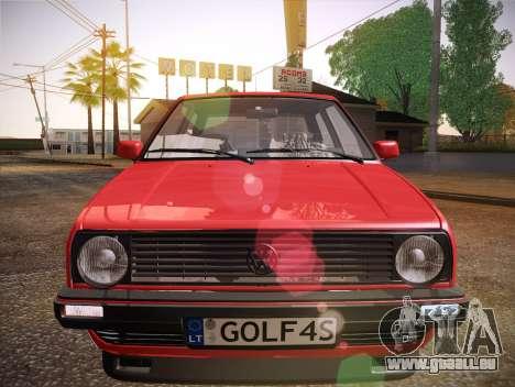 Volkswagen Golf Mk2 pour GTA San Andreas vue de dessus