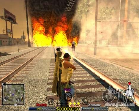 C-HUD Crime Ghetto pour GTA San Andreas troisième écran