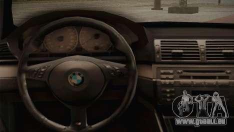 BMW M3 E46 Hellaflush pour GTA San Andreas vue intérieure