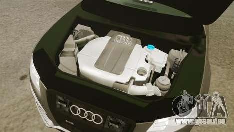 Audi S4 2013 Unmarked Police [ELS] pour GTA 4 est une vue de l'intérieur