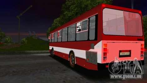 LIAZ-5256 pour une vue GTA Vice City de l'intérieur