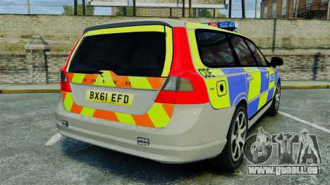 Volvo V70 Metropolitan Police [ELS] pour GTA 4 Vue arrière de la gauche