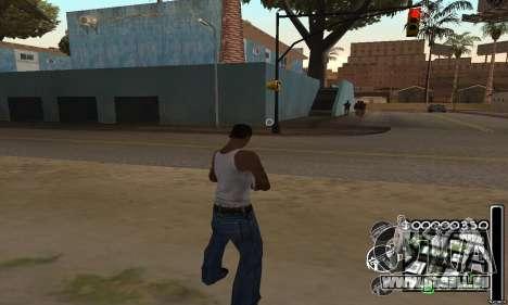C-HuD Black White pour GTA San Andreas deuxième écran