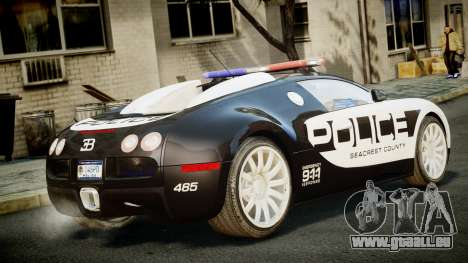 Bugatti Veyron 16.4 Police NFS Hot Pursuit für GTA 4 linke Ansicht
