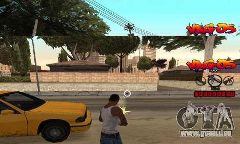 HUD Vagos pour GTA San Andreas troisième écran