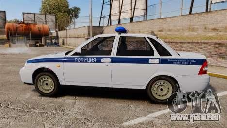 VAZ-2170 Polizei für GTA 4 linke Ansicht