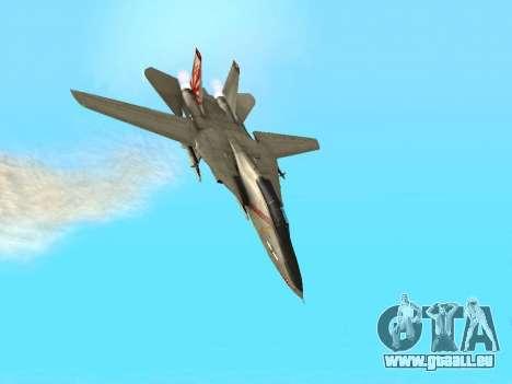 F-14 Tomcat-HQ für GTA San Andreas obere Ansicht