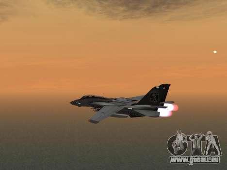 F-14 Tomcat-HQ für GTA San Andreas Rückansicht