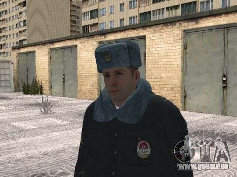 Pak Polizisten im winter Uniformen für GTA San Andreas fünften Screenshot