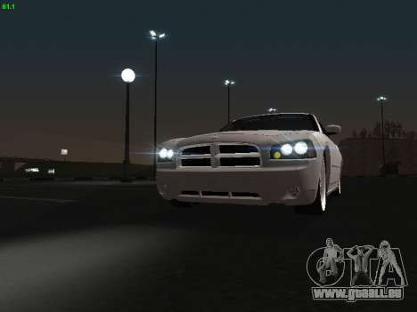 Dodge Charger RT 2008 pour GTA San Andreas vue arrière
