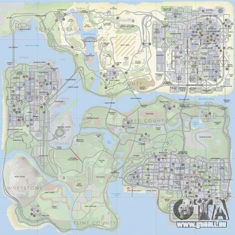 HQ Radar by Rockstar für GTA San Andreas