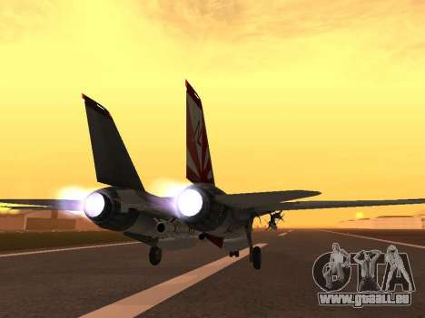 F-14 Tomcat-HQ für GTA San Andreas zurück linke Ansicht